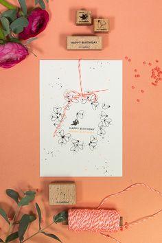 Happy Birthday, Birthday Cards, Karten Diy, Apple Tree, Gallery Wall, Frame, Scrapbooking, Decor, Animaux