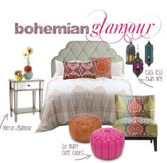 nighstand for bohemian bedroom | The Knoxville Holts: bohemian glam {bedroom inspiration}