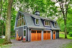 Writer's Studio Barn - farmhouse - Garage And Shed - HUDSON DESIGN Architecture & Construction Mgmt