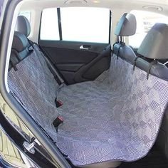 Graphite/Black 3-in-1 Hammock Dog Car Seat Cover - Geometric Cubes Pattern Hammock Cover, Dog Hammock, Cute Car Seat Covers, Gem Cars, Chairs For Small Spaces, Diy Dog Bed, Dog Car Seats, Designer Dog Clothes, Back Seat