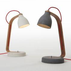 Concrete desk lamp designed by Benjamin Hubert.