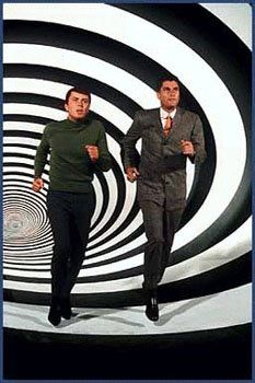 time tunnel - 1966-67:  They have invented a Time Tunnel, which will allow people to visit anywhere in time and space. While testing the tunnel, Newman and Phillips became trapped in time, and each week finds themselves at the site of an important historical event.