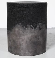 COLLECTION   AM MA Studio NYC Stool & coffee table 'Drums' made out of an interesting array of unexpected materials including rock salt, coffee, sand and silica to create these unique objects.