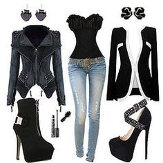 what to wear tonight Lila Outfits, Sexy Outfits, Casual Outfits, Fashion Outfits, Womens Fashion, Black Outfits, Barbie Mode, Corset Outfit, Fashion Vestidos