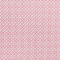 * Front Fabric Only: Coral/Pink Geometric small scale greek key fabric with Metallic Gold overlay  - Dry Clean Only  Fabric Content - Content - 55%