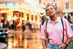 director Sydney Pollack on the set of Havana, 1990