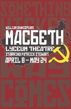 Macbeth Posters by Antonio Luoma, via Behance