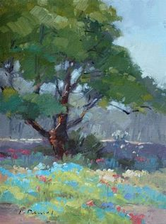 "Daily Paintworks - ""Garden Delight"" by Laurel Daniel 12*9"