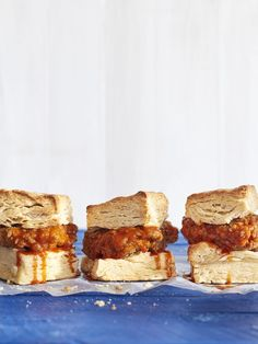Mile-High Biscuit Sandwiches with Sweet Heat Hot Chickencountryliving