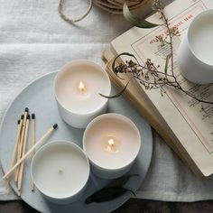 Time for hygge Best Candles, Soy Candles, Scented Candles, Candle Jars, Homemade Candles, Photo Bougie, Nature Design, Design Design, Photo Candles