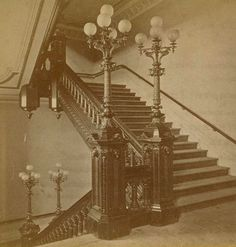 https://flic.kr/p/6h4EWg | CA State Capitol stairway 1870's