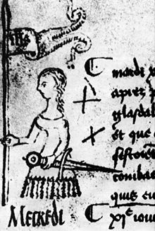 Joan of Arc drawing by Clément de Fauquembergue, 1429, two years before she was burned at the stake May 30, 1431.
