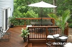 Getting back porch ideas is easy to come by if you look in the right spot. See our back porch ideas work and let us help you with your next porch project. Second Story Deck, Deck Pictures, Deck Builders, Cool Deck, Outdoor Spaces, Outdoor Ideas, Outdoor Living, Deck Plans, Deck Railings