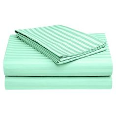 Ivy Bronx Harding Luxury Dobby Striped Bed 100% Cotton Sheet Set Size: California King, Color: Turquoise
