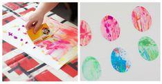 Bientôt Pâques ! Créons notre décoration avec des guirlandes colorées à la peinture. Une activité qui convient à tous les enfants, dès le plus jeune âge. Idee Diy, Decoration, Playing Cards, Easter, Games, Ewen, Kids, Juliette, Art