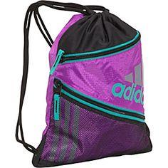 adidas Closer Sackpack - Ultra Purple/Hyper Green - via eBags.com!