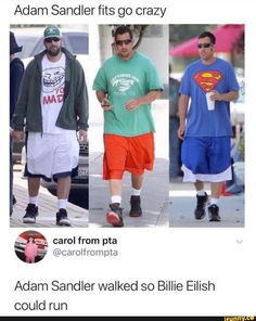 Picture memes — iFunny Nonono adam sandler is sprinting and Billie Eilish is running into the ground Really Funny Memes, Stupid Funny Memes, Funny Relatable Memes, Funny Tweets, Haha Funny, Funny Posts, Hilarious, Funny Stuff, Random Stuff