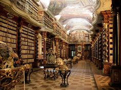 National Library in Prague Czech Republic - Architecture and Historic Places - Buildings - Amazing Travel Photography and Sightseeing Destinations World's Most Beautiful, Beautiful Places, The Places Youll Go, Places To Visit, Beautiful Library, Blog Voyage, Czech Republic, Old Town, Book Lovers