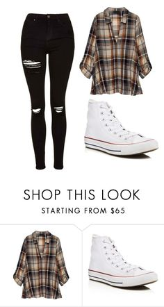 """Untitled #416"" by cuteskyiscute on Polyvore featuring Bobeau, Converse and Topshop"