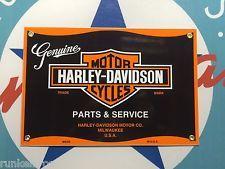 HARLEY DAVIDSON parts & service PORCELAIN COATED METAL SIGN