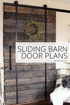 Love barn doors but not the price of expensive hardware? Then you will love our Sliding Barn Door Plans - they're free and use easy to find materials! Rustic Doors, Wood Doors, Barn Door Designs, Kitchen Doors, Interior Barn Doors, Barn Door Hardware, Easy Diy Projects, Farmhouse Decor, Country Farmhouse