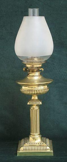 beautiful victorian art nouveau solid brass messengers no2 oil lamp c1890