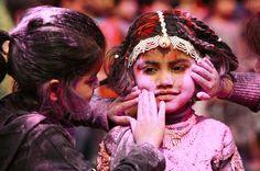 Holi, the festival of colours (India).