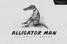 Buy Alligator Man Font by graticle on GraphicRiver. Alligator Man is a hand drawn, hand written, hard working, yet solitary, alligator… er …font. Alligator Man comes wit. Business Brochure, Business Card Logo, Business Design, Character Symbols, Hipster Fonts, Hand Drawn Fonts, Handwritten Script Font