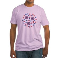 Shirt With Red-Blue Balls