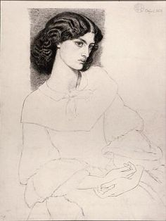 Mrs William Morris (1858) D G Rossetti