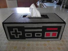 NES tissue box perler beads