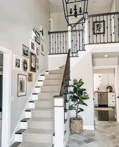 🦌 We spy with our little eyes a White Faux Taxidermy® mini deer head in that gorgeous gallery wall! Gallery Wall Staircase, Gallery Walls, White Deer Heads, Deer Head Decor, Faux Deer Head, The Tile Shop, Faux Taxidermy, Bronze, Stairways