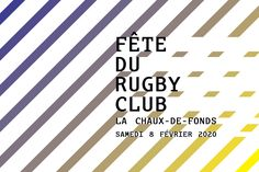 Social media banner rugby night event. #graphic #graphiclines #flyer #poster #design #type #banner #socialmedia #facebook #swissgraphicdesign #ateliertertre    More on www.tertre.ch Rugby, Social Media Banner, Design Graphique, Illustration, Company Logo, Graphic Design, Facebook, Type, Night