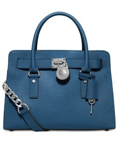 TEAL Michael Kors Hamilton Saffiano Leather East West Satchel - Handbags & Accessories - Macy's