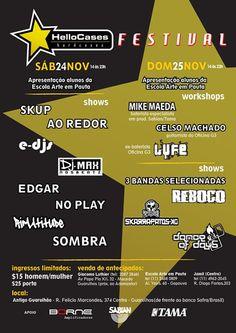 Primeiro #HelloCases Festival acontece nos dias 24 e 25 de Novembro