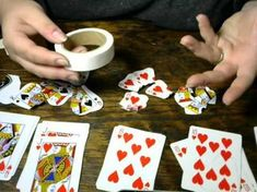 Playing Card Roses - YouTube