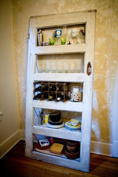 Vintage Door Repurposed  Bookshelf- Kitchy