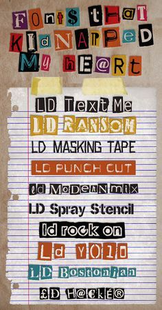 Ransom Note Fonts