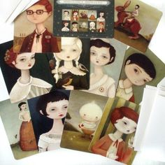 Oddfellow's Orphanage (2009 Portraits) Postcard Collection. $12.00, via Etsy.