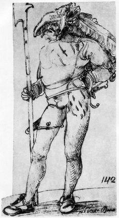 Artist: Schäufelein, Hans Leonhard, Title: Landsknecht [5], Date: 1506-1507
