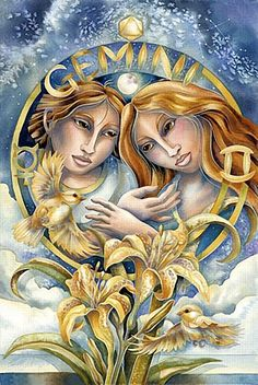 ♊ Gemini:  Gemini is mentally intuitive, and have an uncanny ability to finish other people's sentences, or find the words they are looking for. The twin is the perfect speaker of the 'right word'. Geminis also have flashes of 'knowledge' with seemingly no insight into where they came from. Susceptible to clairaudience. (The Psychic Zodiac@darkmoontarot.tumblr.com)
