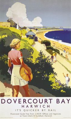 Dovercourt Bay Harwich : It's Quicker by Rail  (Daphne Padden, 1941)