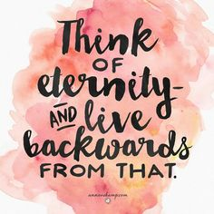 Think of eternity