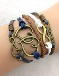 Faith, Infinity, Hearts, Music Note ModWrap Bracelet - www.gomodestly.com/