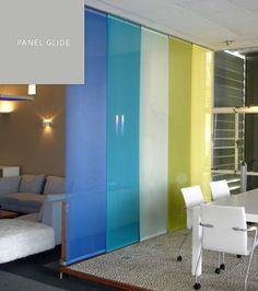 Panel Glide Blinds by SP Blinds Ikea Room Divider, Bedroom Divider, Living Room Divider, Blinds For Large Windows, Sliding Panels, Aesthetic Room Decor, Home Bedroom, Camilla, Furniture Decor