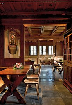 The 5 star Alpina Gastaad: combining #rich chalet atmosphere with exotic elements #Switzerland