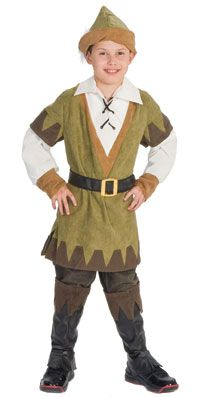 Kids Deluxe Sherwood Robin Hood Costume - Medieval Costumes