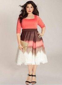 Wish | Patchwork Dress Printing Plus Size Formal Dress ZB1833