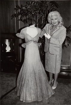 Ginger donates her dress from Top Hat: The Piccolino song and dance to the Smithsonian Museum.