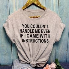 Funny T Shirts for Women/Girl, Cotton Short Sleeve Shirt, Graphic Tee for  Casual  Wear | Wish